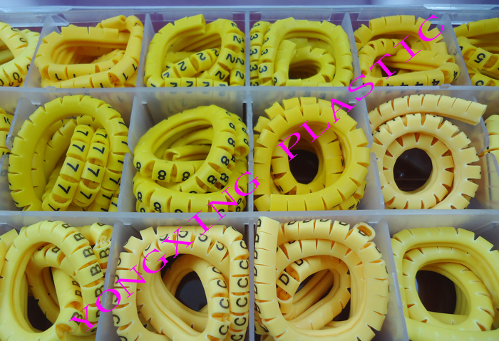 1800PCS/lot  EC-0 1.5mm2 18 number and letter cable marker digital lletter number ABCDEF+-0123456789 each 100PCS 16roll lot cirlce cable marker ec 3 6 square meter yellow color x y z s each 4 roll