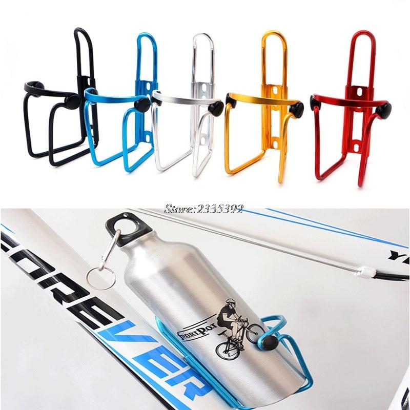 (QILEJVS)Aluminum Bicycle Bike Cycling MTB Water Bottle Cage Drink Rack Holder Bracket APR17_17 metal bike bicycle saddle rail dual water bottle holder bracket red