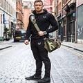 Pantalones de los hombres Atractivos Calientes de La Manera cnopt pantalones casuales 2016 Nuevas Instalaciones de Ocio bordado PantsElastic Masculino Gimnasio Workout