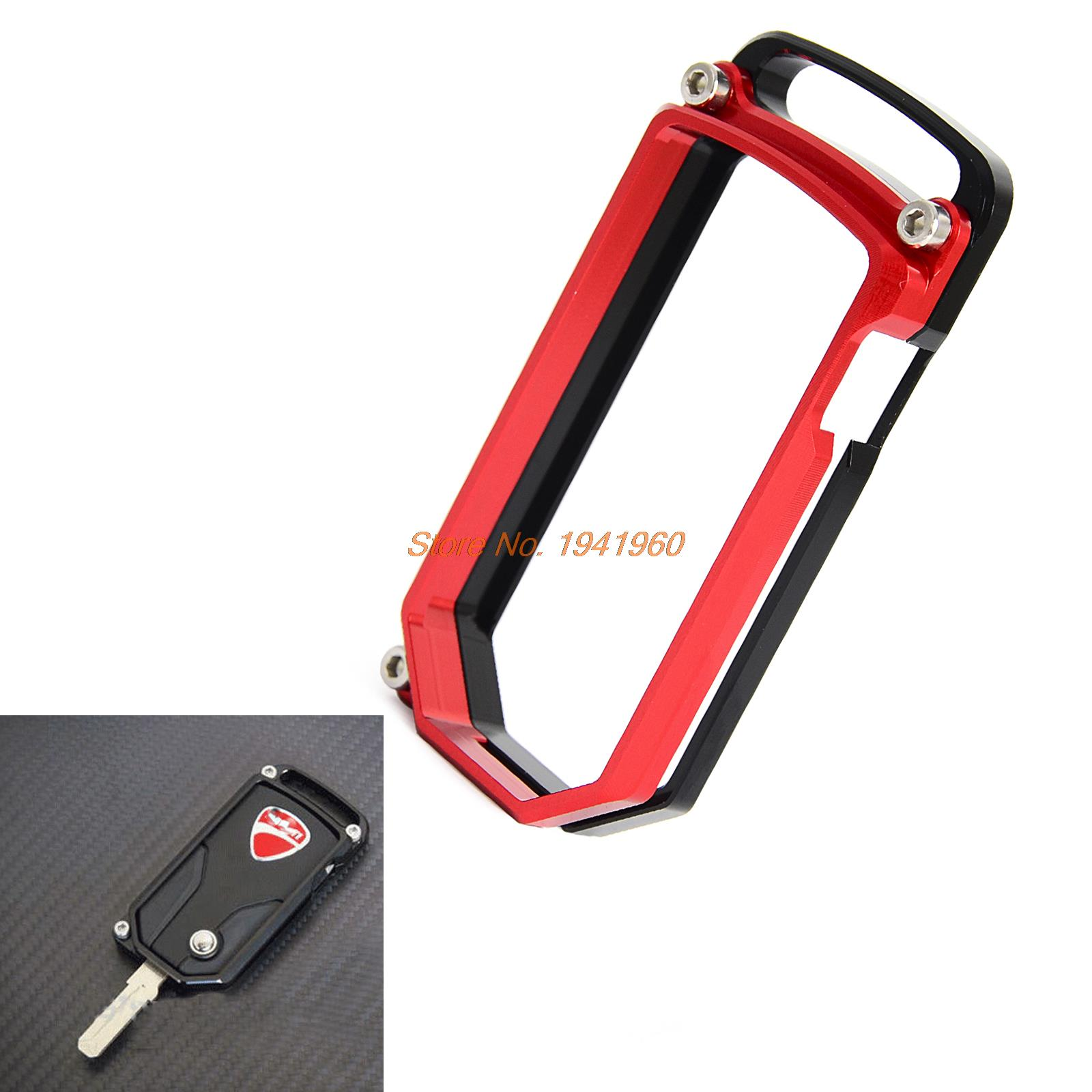 New Style Red Casing CNC Motorcycle Key Remote Cover Case Chain Guard For Ducati Diavel Strada 2013 Ducati Diavel Dark 2013 cnc key case smart key cover for ducati diavel 2011 2016 multitrada 1200 1200s mts1200 2010 2014 new