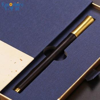 Top Roller Ball Pen High-end Office Gift Box Wooden Crafts Creative Gifts Wooden Ballpoint Pen Custom Lettering  P357