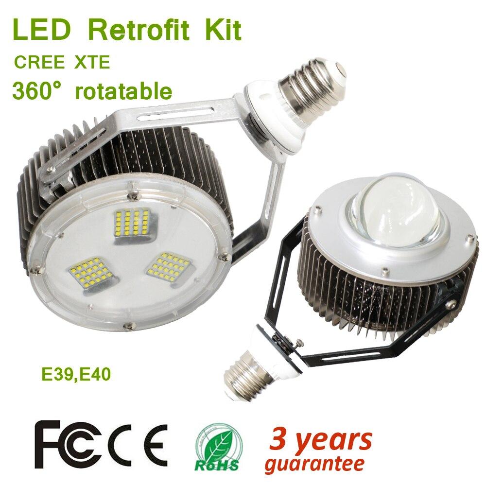 AC100 305V 150 W 180 W XTE E39 E40 Lampbase fácil ajustable en el accesorio de iluminación Super potencia LED Kits de 20000lm max