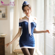 Hot Sexy Stewardess Lingerie Costume Dress For Women Cosplay Erotic student Costumes Uniforms Suit gift