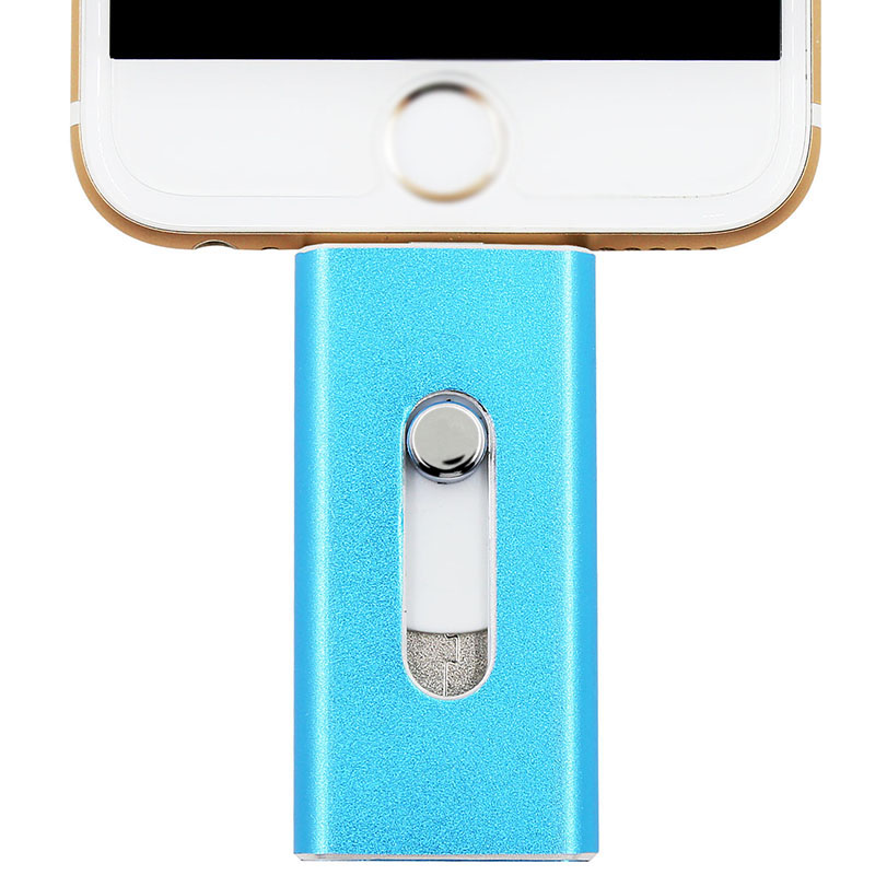 Metal Pendrive 64GB Mini Usb I Flash Drive Otg Usb Flash Drive For Android iPhone 5