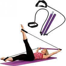 Bastone da palestra portatile elastico a 2 anelli per allenatore leggero Pilates Bar con CD