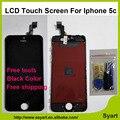 1 pcs cor Preta 5C lcd de Pixel Não Morto boa qualidade AAA tela para iphone 5c display lcd de toque digitador da tela + quadro assembléia