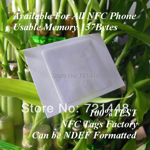 100pcs Ultralight C NFC tag for all NFC mobile phone Usable Memory 137 bytes NFC Forum Type 2 tag 35*35mm Can be NDEF formatted