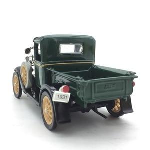 Image 2 - 1:32 vintage Classic Car Antique Truck Model Alloy Car Model for  Ford Length 13cm