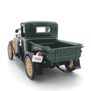 Image 2 - 1:32 מכונית קלאסי בציר עתיק משאית מודל סגסוגת רכב דגם עבור פורד אורך 13 cm