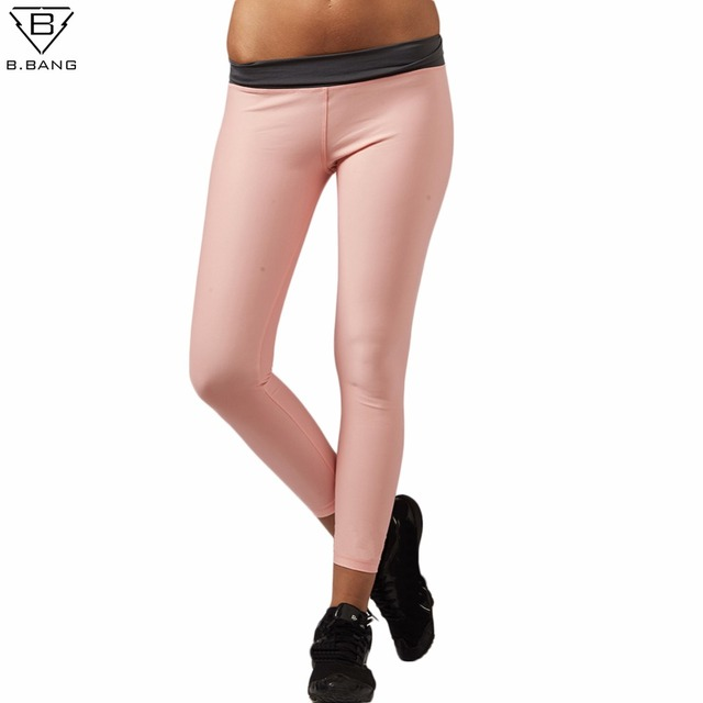 427d251b6fac7 B.BANG Women Sport Leggings Elastic Yoga Pants for Fitness Running Workout  Gym Solid Color Tights for Female