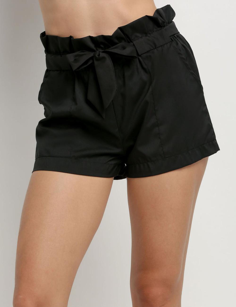 HTB1XM7NNFXXXXbLXpXXq6xXFXXXu - High Waist Shorts Loose Shorts With Belt Woman PTC 59