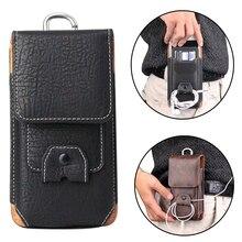 5,5 ''Универсальный кожаный мешок хип Талия Кошелек Мобильный телефон сумка для iPhone открытый поясная сумка для Galaxy J7 A3 a5 примечание 9 XiaoMi