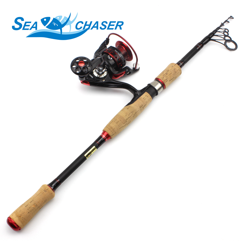 NEW 2 1M 2 4M 2 7M carbon Fishing Rod wooden handle Spinning lure Rod and