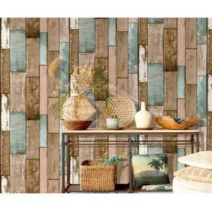 Image 5 - Rollo de papel tapiz de madera de vinilo autoadhesivo de PVC impermeable para sala de estar, cocina, habitación de niños, paredes, papel de contacto de madera