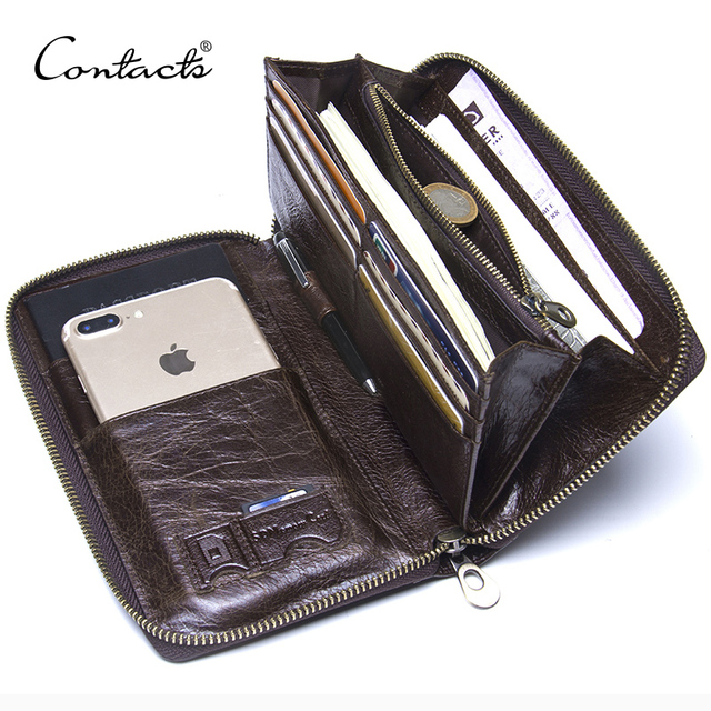 Genuine Leather Mens Clutch Wallet