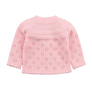 Image 4 - Baby Girls Cardigan Toddler Sweater Infant Coat Hollow Out Fashion Cute Infant Girls Knitted Jacket RT197