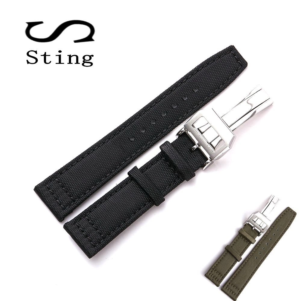 Sting Strap 20 21 22mm Genuine Soft Calf Leather Watch Band Strap for Mark 17 Series Watches Replacement Nylon WristbandSting Strap 20 21 22mm Genuine Soft Calf Leather Watch Band Strap for Mark 17 Series Watches Replacement Nylon Wristband