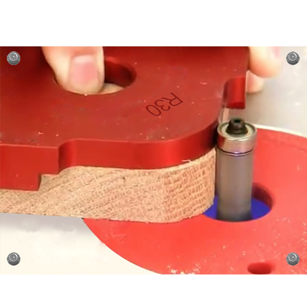 1Set Rayon Quick-Jig Routeur Table Bit En Alliage D/'aluminium Jig Gabarit