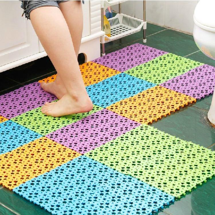 Sale Candy Color Mosaic Take A Shower Bath Mat Kitchen Living Room Floor  Mats Bar Plastic ...
