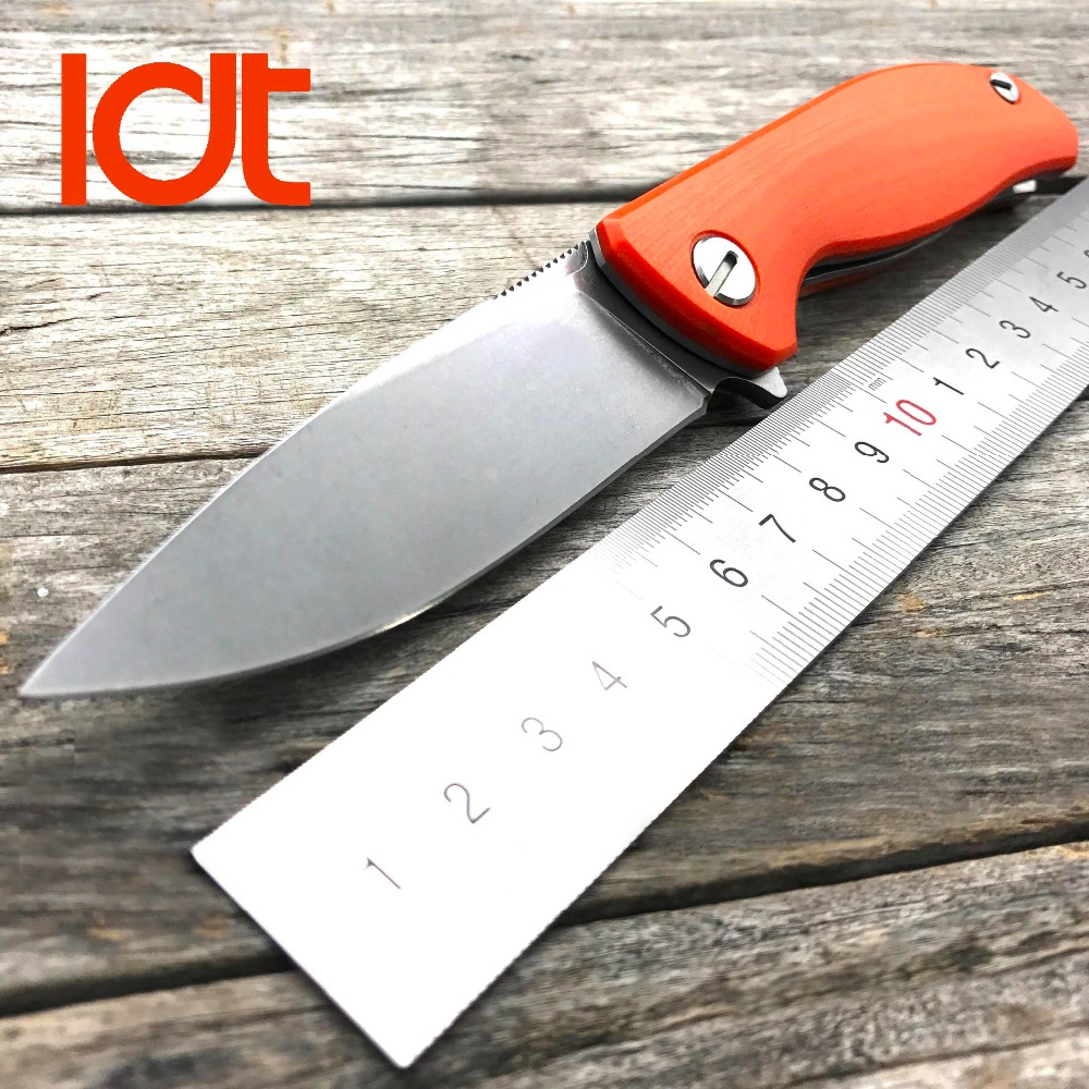 LDT Bear Mini F3 Folding Knife 30 EVO Blade G10 Handle Camping Tactical Knife Flipper Outdoor Survival Hunting Knives EDC Tools