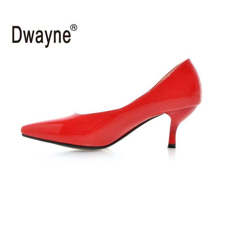 Grande Tamanho do Sapato 6 cm Saltos Altos das Mulheres Bombeia Sapatas Do Partido Para As Mulheres Casamento Sapatos PU A05-1 HU