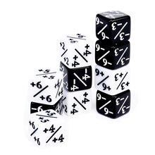 10x Dice Counters 5 Positive +1/+1 & 5 Negative -1/-1 For Magic Gathering Games Table Board Interesting Gaming Party Bar Dices(China)