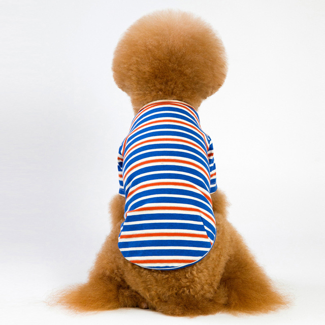 6 Colors Striped Dog Clothes For Dog Shirt Vest Spring Autumn Dogs Pets Clothing For Small Dogs Clothing Pet Outfits Chihuahua 2