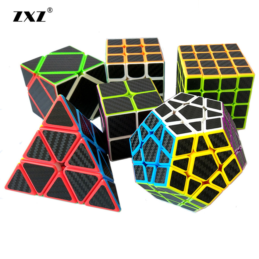 все цены на Carbon fiber Classic Toys ABS Sticker Block High Quality Speed Magic Cube Colorful Learning&Educational Puzzle Cube Magic Toys