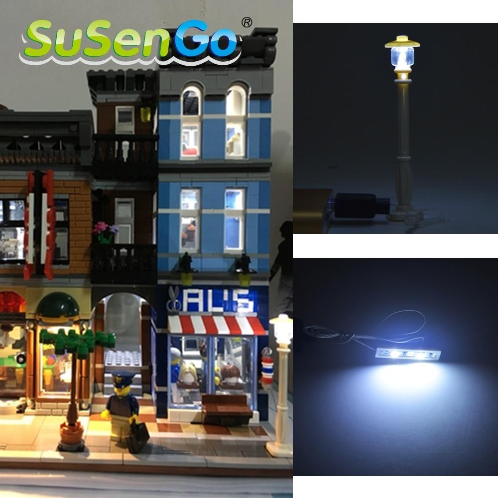 SuSenGo LED osvetlitveni komplet Creator Series Blocks Model Dodatki - Gradbeni igrače