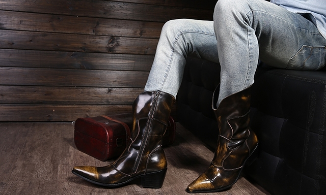 New Fashion 2015 Autumn Winter Men Boots Pointed Toe
