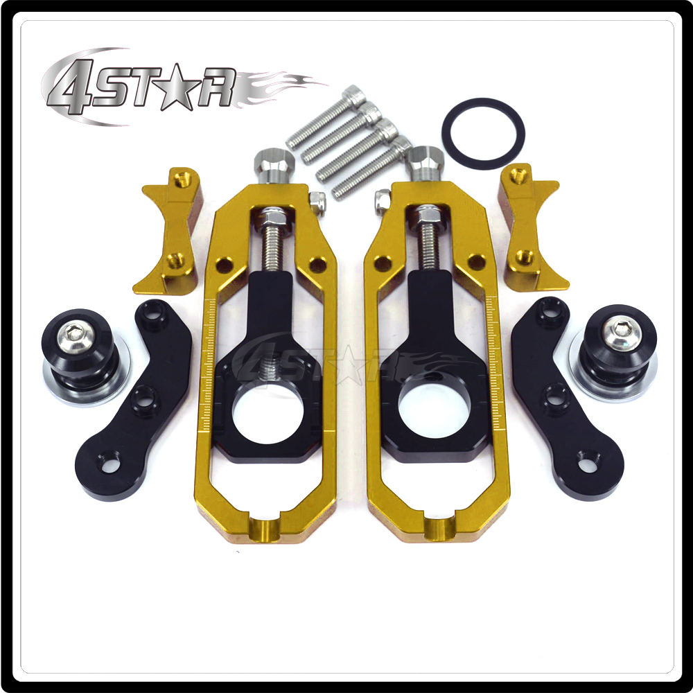 CNC Chain Adjusters Tensioners With Spool Fit for APRILIA RSV4 2010-2014 2010 2011 2012 2013 2014 10 11 12 13 14 Motorcycle mad moto high quality motorcycle chain adjuster with paddock bobbin fit for aprilia rsv4 2009 2010 2012 2013 2014 red black