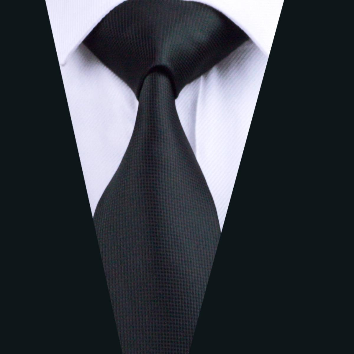 Черный Шелковый мужской галстук для свадебной вечеринки деловой галстук набор FA-251