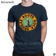 Roots Rock Reggae. Koszulki Euro rozmiar koszulka w stylu pop Basic solidna męska koszulka projektowanie wysokiej jakości lato Anlarach w nowym stylu