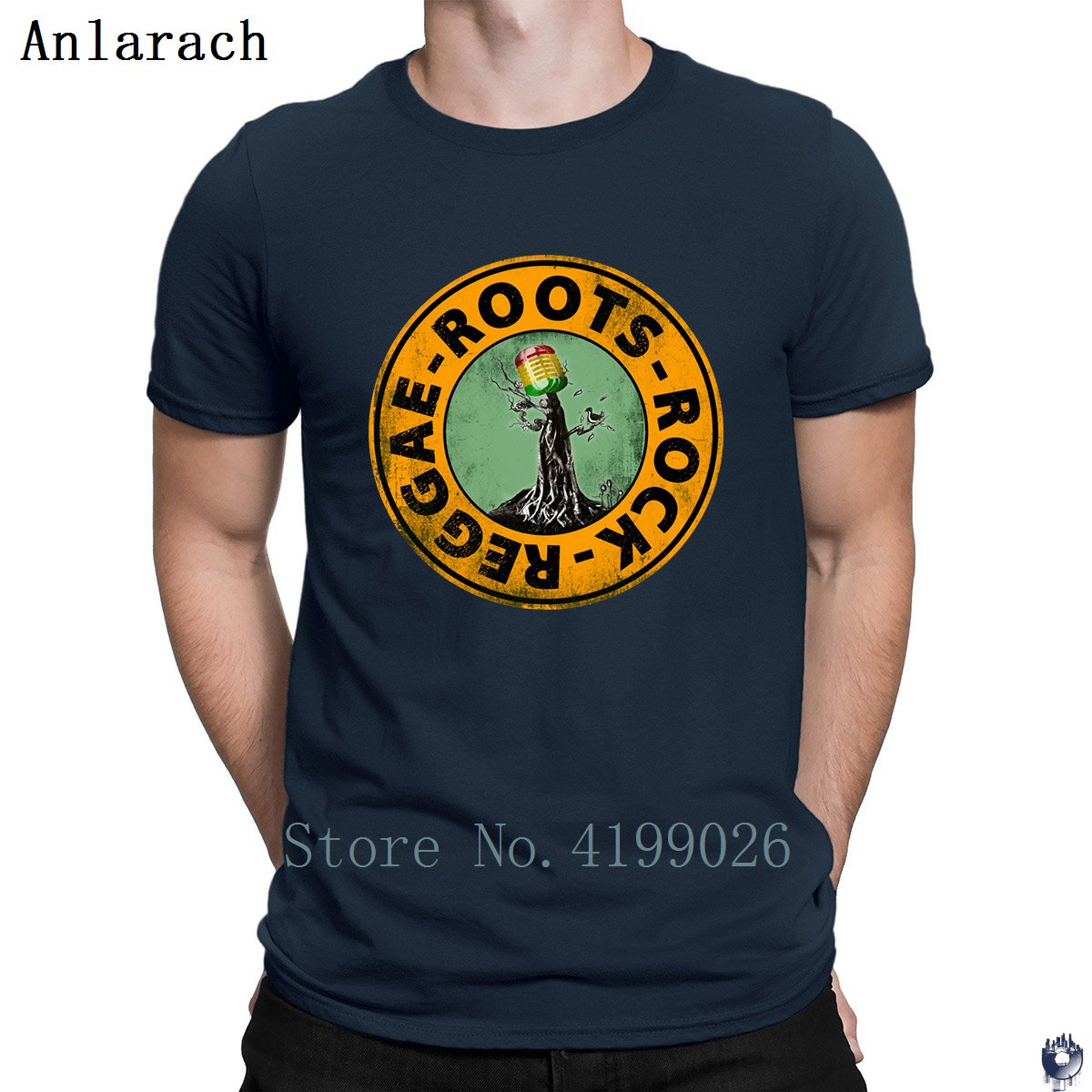 Roots Rock Reggae. t shirts Euro Size Pop Top Tee Basic Solid men's tshirt Designing High quality summer Anlarach New Style-in T-Shirts from Men's Clothing