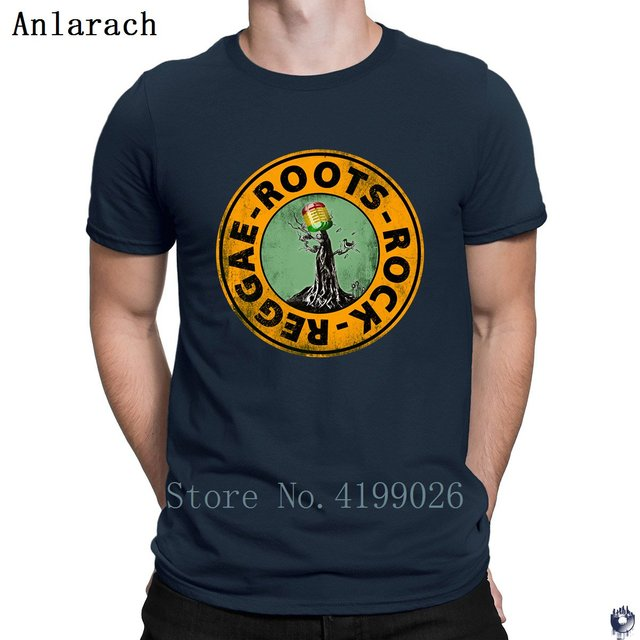 Roots Rock Reggae. t shirts Euro Size Pop Top Tee Basic Solid mens tshirt Designing High quality summer Anlarach New Style