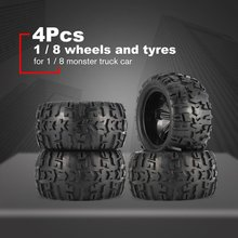 2Pcs 150mm Wheel Rim and Tires for 1/8 Monster Truck Traxxas HSP HPI E-MAXX Savage Flux Racing RC Car Accessories HOT