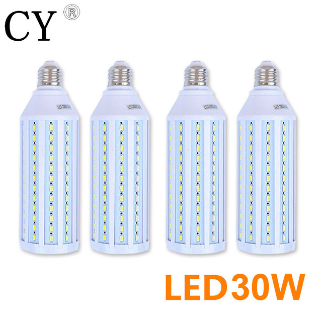 LightupFoto 4pcs 30W 220v LED Corn Bulb & Tubes kit E27 5730 SMD Photo Studio Bulb Photographic Lighting