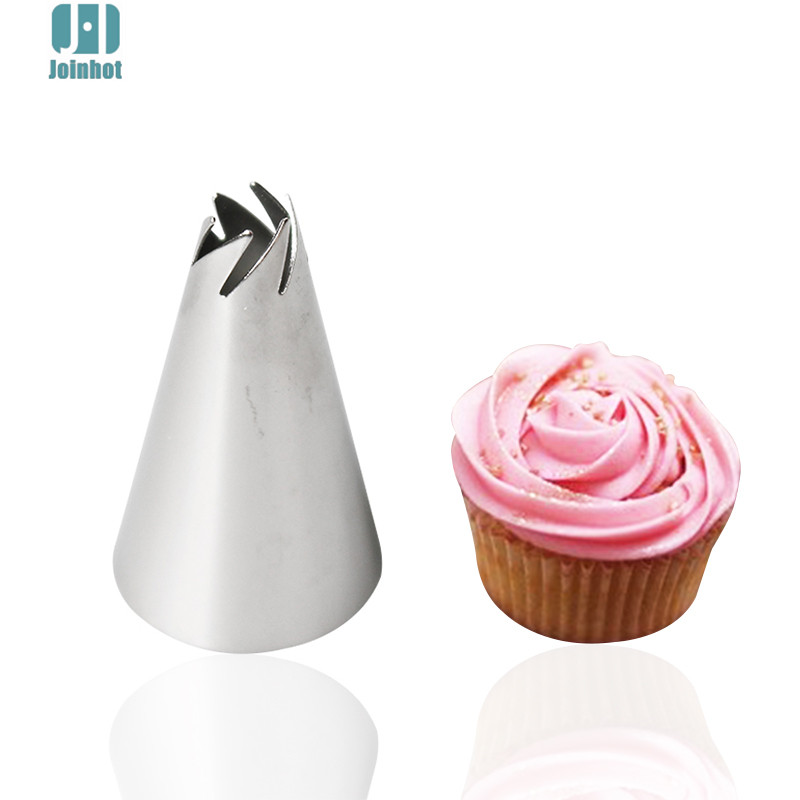 Aliexpress.com : Buy 1pcs Steel Icing Piping Nozzles Pastry Tips Fondant Cake Decorating Tools ...