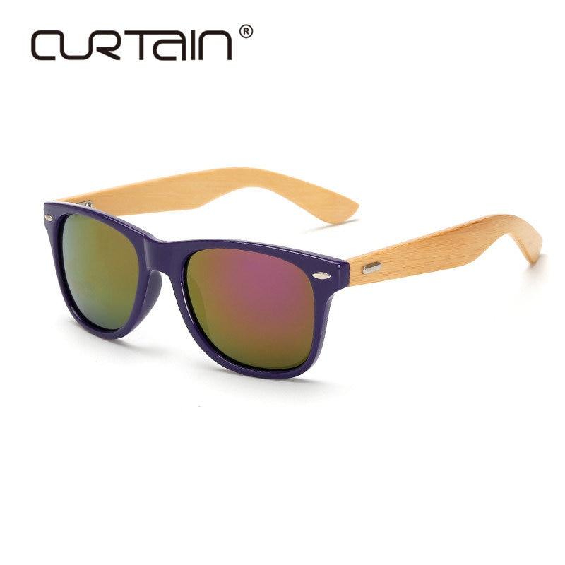 Zlaté zrcadlo sluneční brýle odstíny retro dřevěné sluneční brýle muži bambusová lupa Dámská značka design sportovní brýle lunette oculo