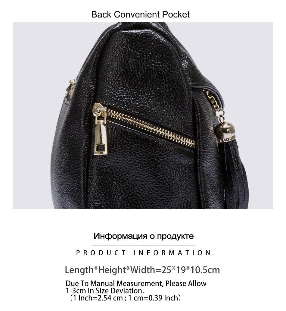 Zency 100% couro genuíno moda feminina ombro