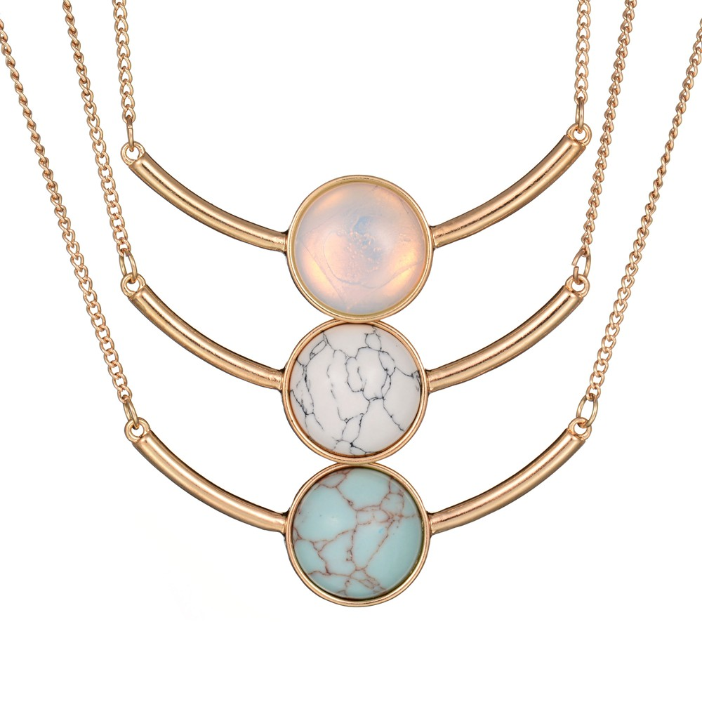 Vintage Punk Round Blue White Faux Marble Stone Pendants Necklaces Gold  Color Short Choker Necklaces For Women Jewelry-in Pendant Necklaces from  Jewelry ... c2d7e2f4708