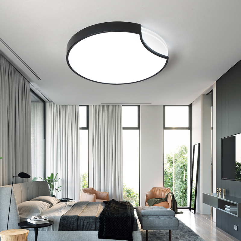 LED Ceiling lights bedroom Round lighting modern Acrylic luminaires Nordic living room ceiling lamps children's room fixtures-in Ceiling Lights from Lights & Lighting    2