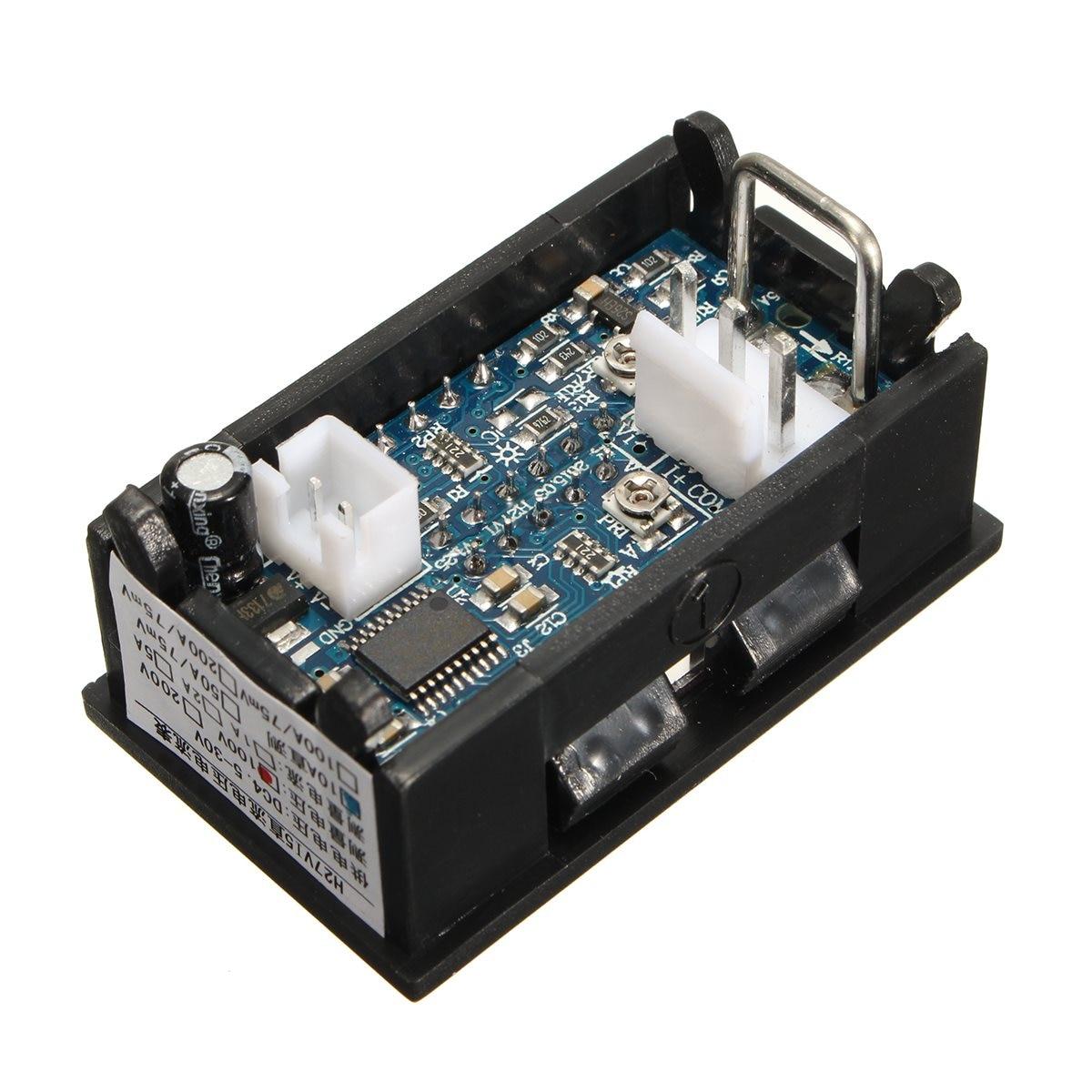 Buy Mini Digital Dc 100v 10a Voltmeter Ammeter Blue Wiring Diagram Red Led Panel Amp Dual Volt Meter Gauge Voltage Current Home Use Tool From