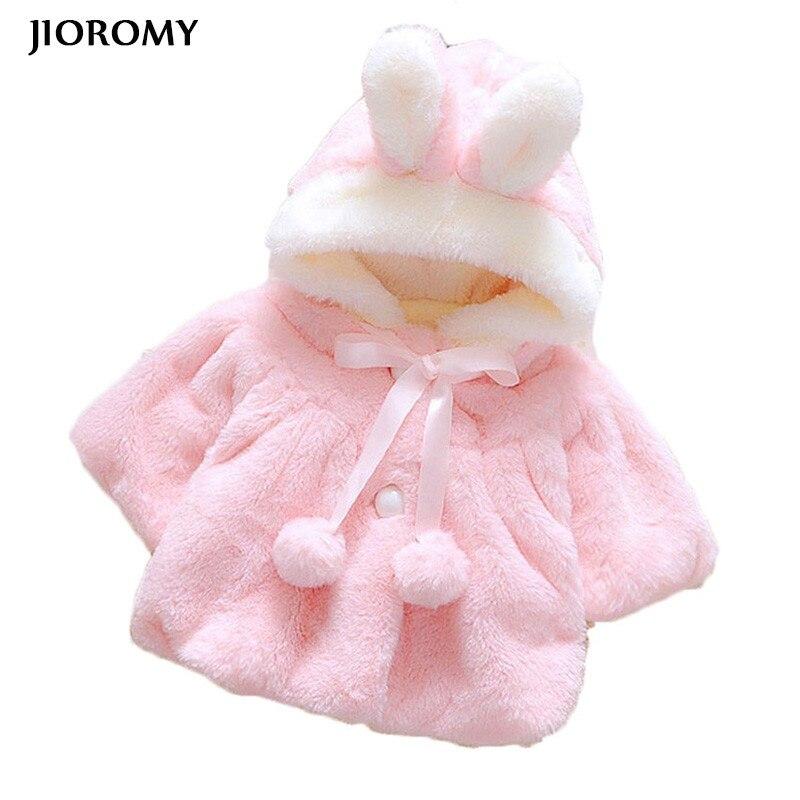 JIOROMY Baby Jacken 2018 Winter Oberbekleidung Et Velour Stoff Kleidungsstück Schöne Bogen Mantel für Babys Kinder Kleidung