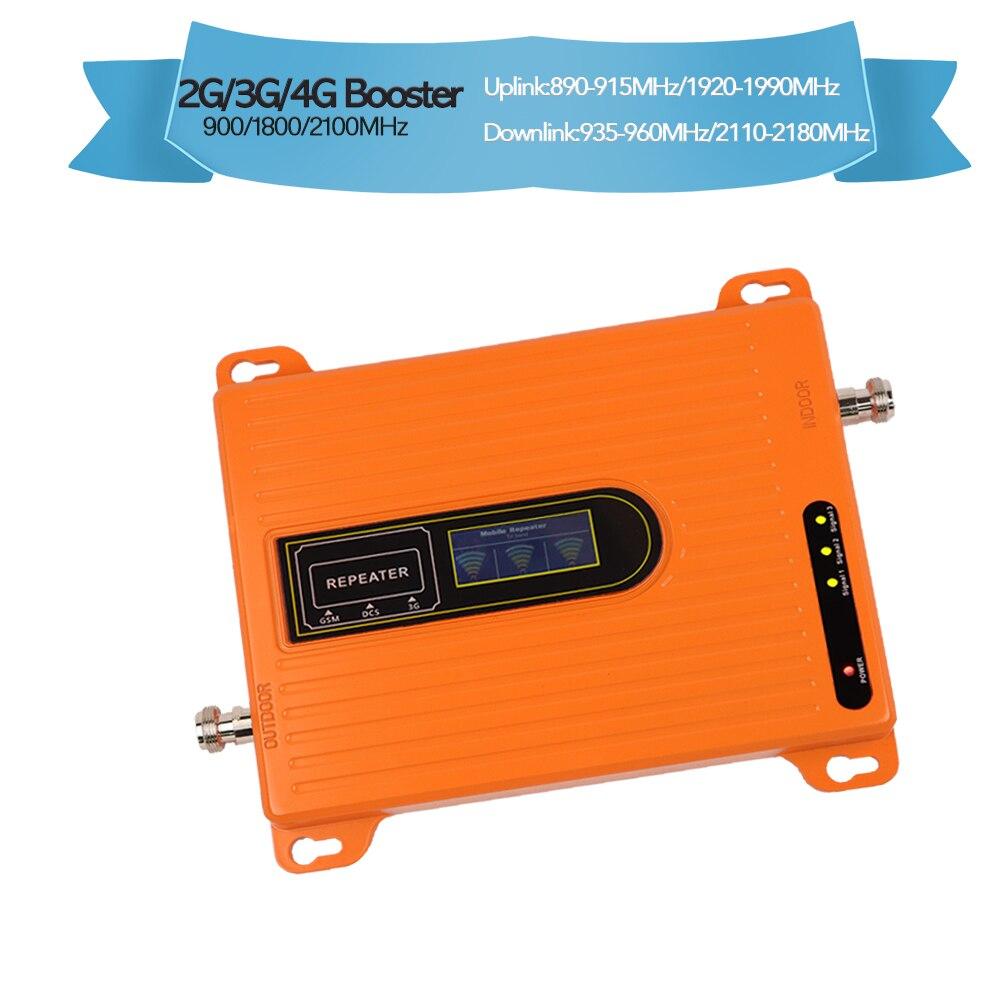 Répéteur tri bande 70dB 2g 3g 4g amplificateur de signal répéteur gsm 900 1800 amplificateur cellulaire 2100 mhz répéteur 4g lte