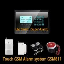 Беспроводная GSM Сигнализация Сенсорной Клавиатурой Интеллектуальная Главная Дом Сигнализация с Голосом 850/900/1800/1900 МГц