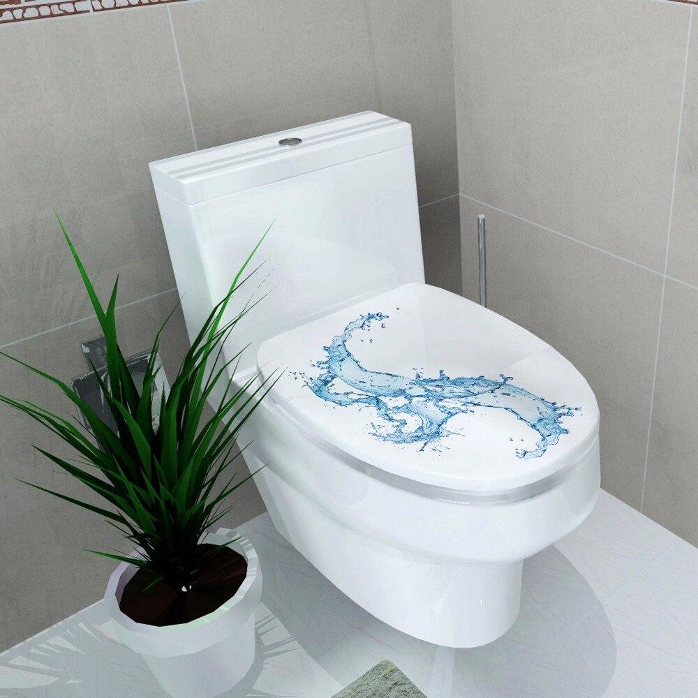 ZS Стикеры Туалет украшения Туалет Обложка Наклейка Водонепроницаемый Стикеры воды