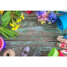 Laeacco  Old Wooden Boards Flowers Child Toy Fairy Photography Backgrounds Customized Photographic Backdrops For Photo Studio laeacco plain old wooden boards planks floor photo backgrounds customized photography backdrops for photo studio