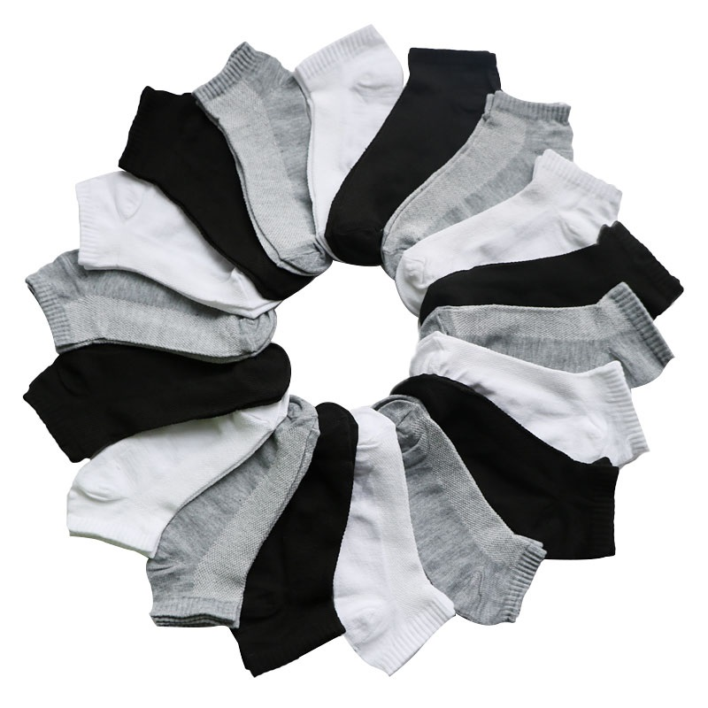 7Pairs/lot Women's Socks Short Female Low Cut Ankle Socks For Women Ladies Socks Short Hosiery Black Gray White Casual Sock