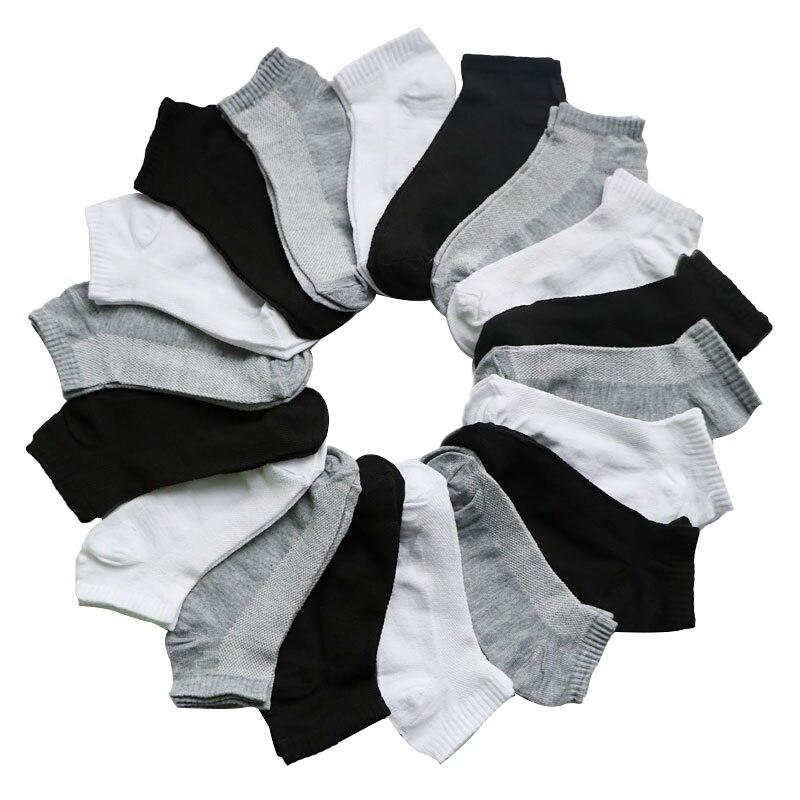 7Pairs/lot Women's Socks Short Female Low Cut Ankle Socks For Women Ladies Socks Short Hosiery Black Gray White Casual Sock